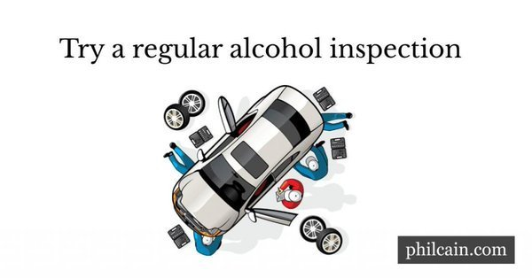 The annual MOT vehicle inspection is a nuisance, but keeps us safe. Something similar might help with alcohol