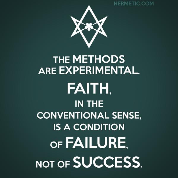 Unicursal FAITH IS FAILURE NOT SUCCESS Propaganda