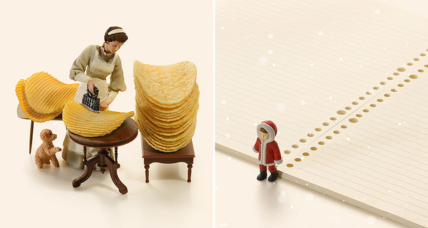 Japanese Artist Creates Amazing Miniature Dioramas Every Day For 10 Years