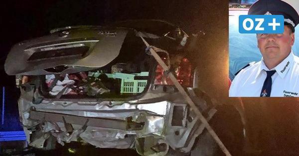 """Feuerwehrleute berichten vom Horror-Crash auf Rügener B 96: """"Es war das blanke Chaos"""""""