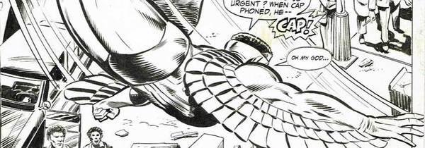 David Wenzel - The Falcon Original Comic Art
