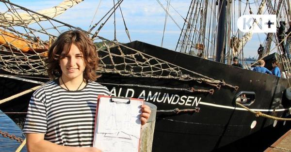 """Was die Crew der """"Roald Amundsen"""" derzeit in Eckernförde repariert"""