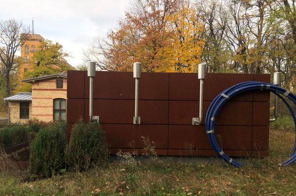 Die Radioaktivitäts-Messstation auf dem Telegrafenberg. Foto: Peter Degener