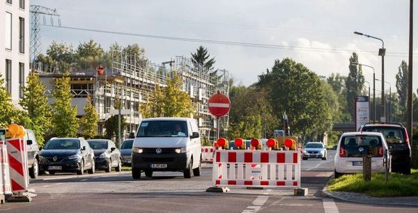Der Horstweg ist aus Richtung Babelsberg derzeit gesperrt. Foto: Julius Frick