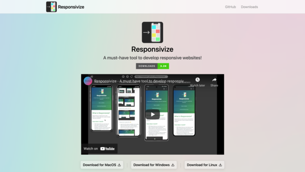 Instantly test a website for responsiveness across various devices