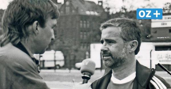 Als Fußballlegende Gerd Müller in Stralsund den Goldenen Fußballschuh übergab