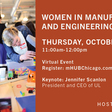 2021 Women in Manufacturing and Engineering Day