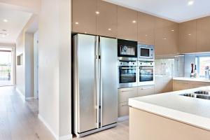 new refrigerator in kitchen