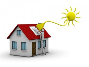 home plugging into the sun's energy