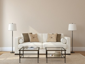 neutral colored living room