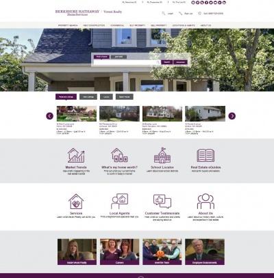 New verani.com homepage