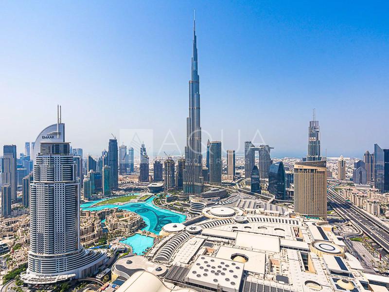 Burj Khalifa and Fountain views   High Floor
