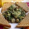 receta de revuelto de espinacas, setas y gambas por inma