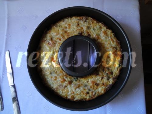 receta de pastel de verduras con setas por Julia