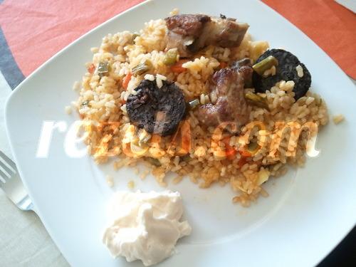 receta de arroz al horno con morcilla y ali oli por toscallita