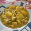 receta de patatas con chocos por arctarus