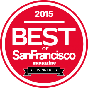 2015 best of SanFrancisco magazine winner