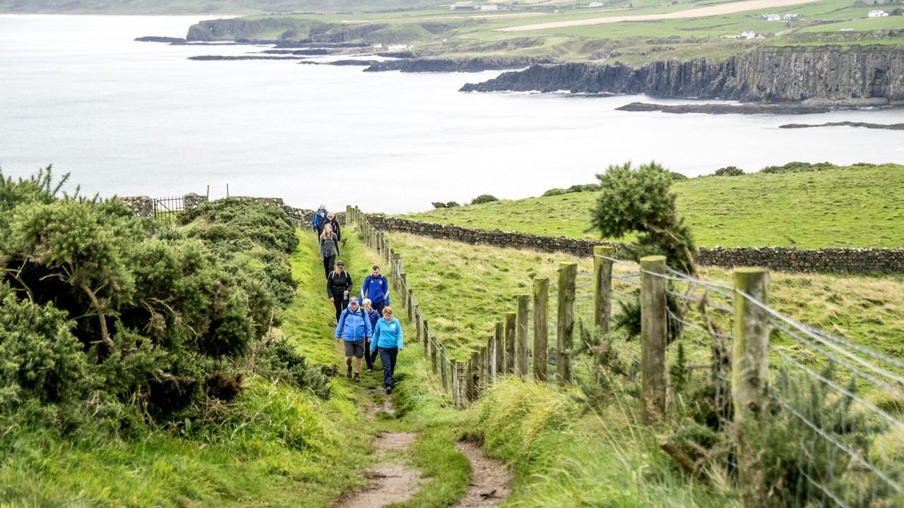 Antrim Coast Cliff Path Walk