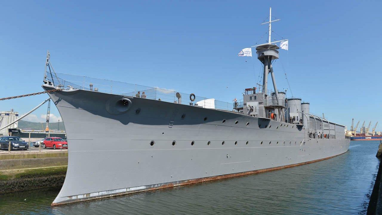 HMS Caroline Battleship Tour