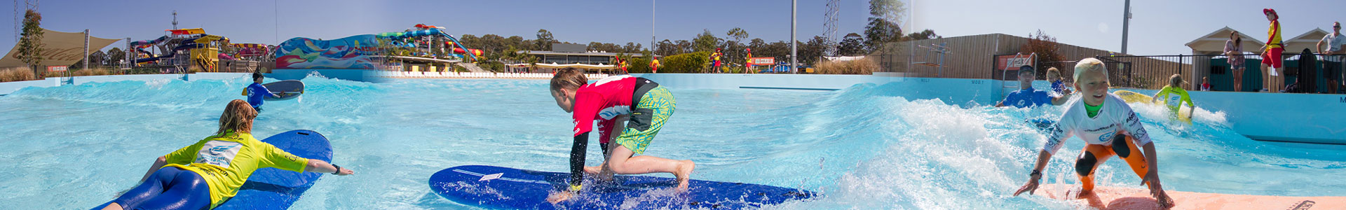 Wet n Wild Sydney Surf School Header