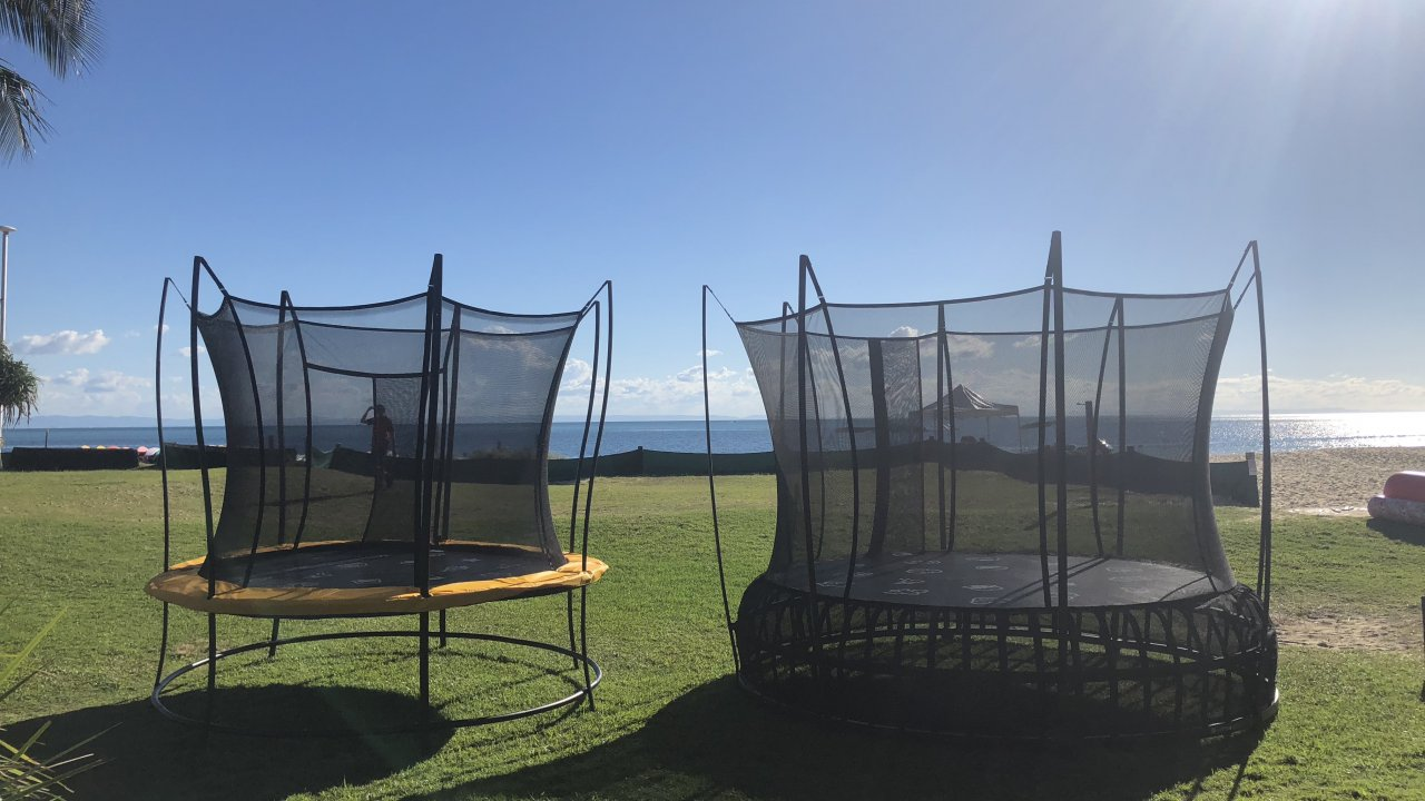 Trampoline Hire at Tangalooma Beach