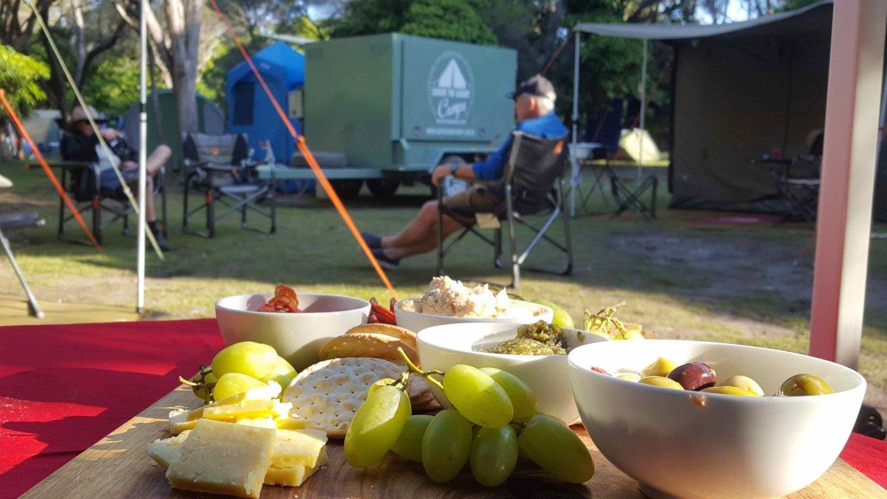 Relaxing in camp before sundowners