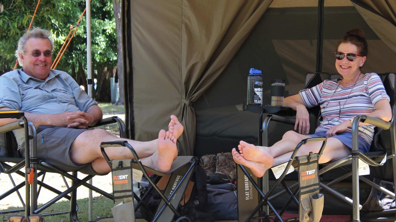 Relax when you arrive in camp.