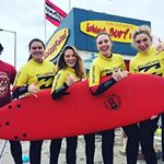 The @dublincityuniversity coders throwing shakas last weekend! After two solid days in the water, these nerds are ready to ditch the apps and move to the coast.  #surfingishighlyaddictive #wildatlanticway : @bronaghhennessy