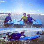 A great shot of @claireod93 & @eimearodon Just a few of the 25 women who surfed with us last weekend while celebrating Maeve's Hen Party! It was great craic in the water last Sunday!  Small waves in #SurfcityLahinch today!! Get on it! Lesson at 17.00!  #maeveshen #lahinchsurfschool #WildAtlanticWay #surfingishighlyaddictive : @sheilaodonnell