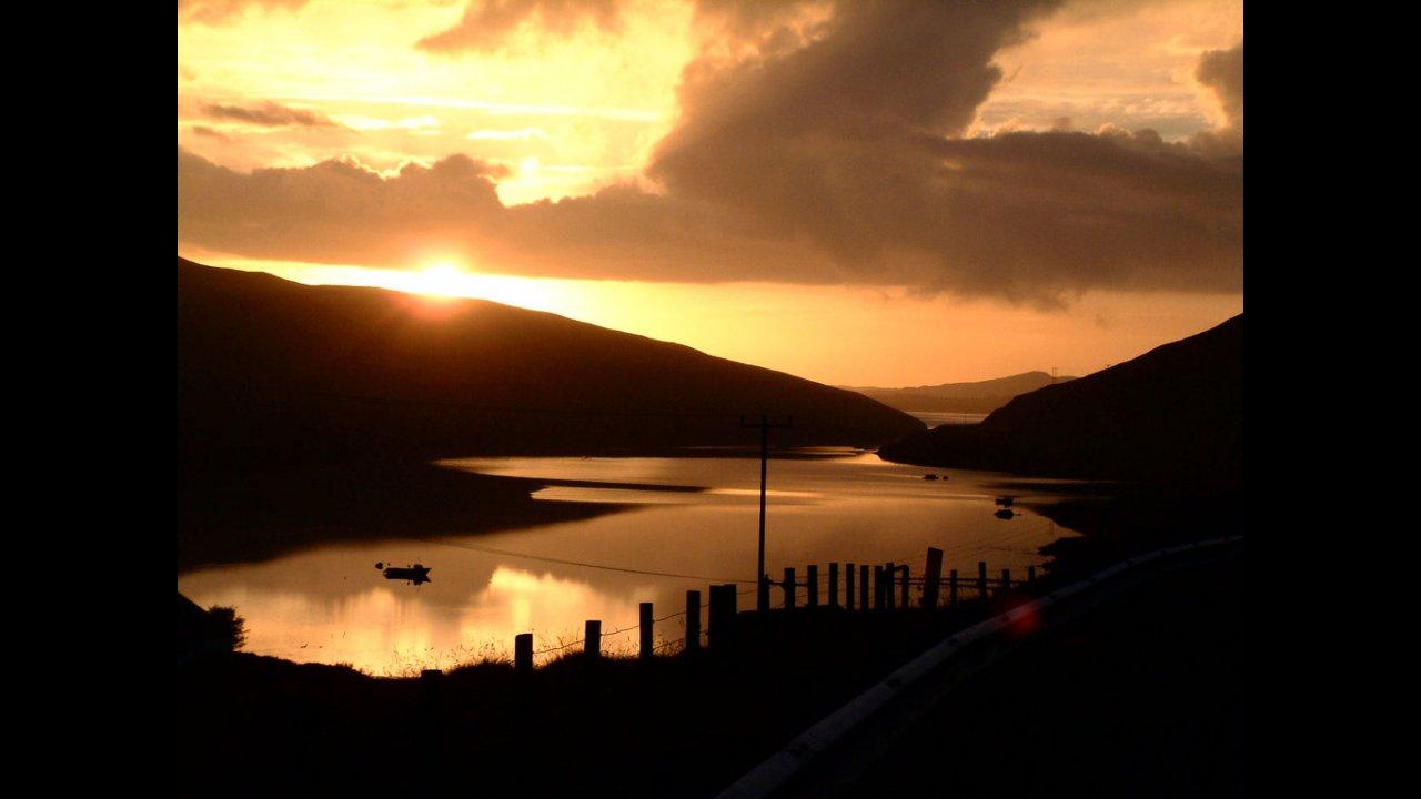 Sunset, Olnafirth