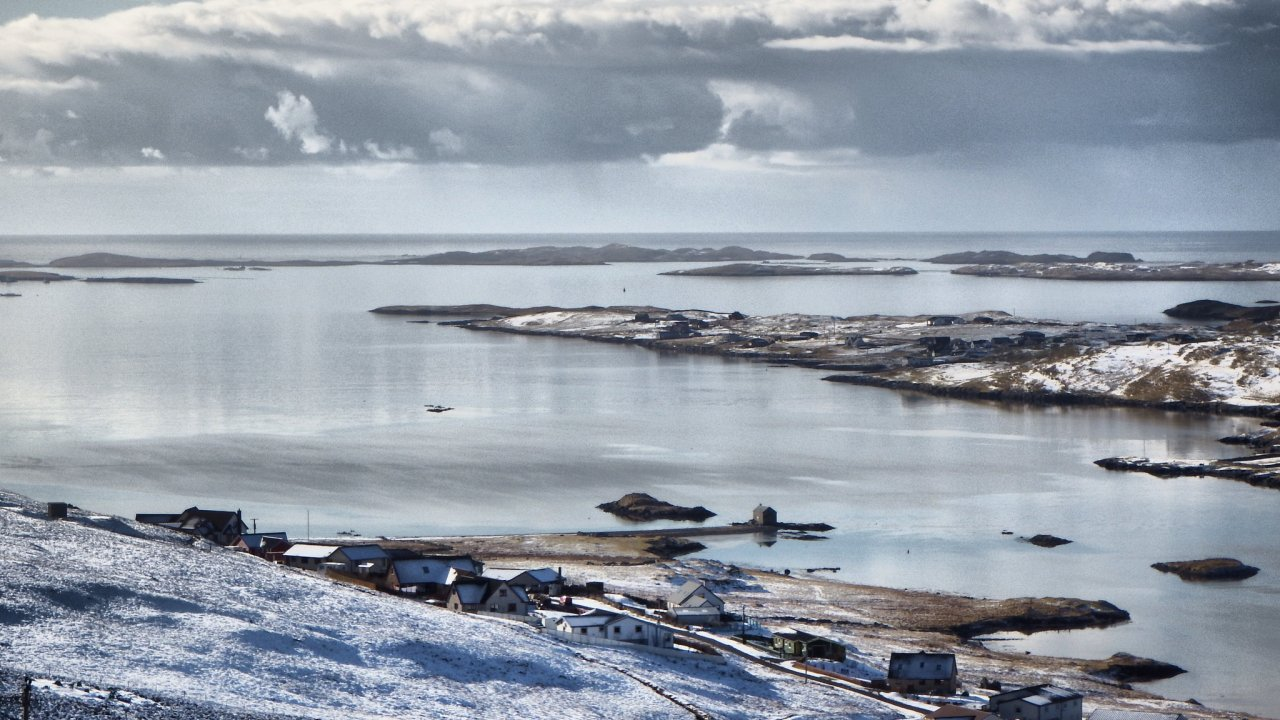 Winter view of Whiteness Voe