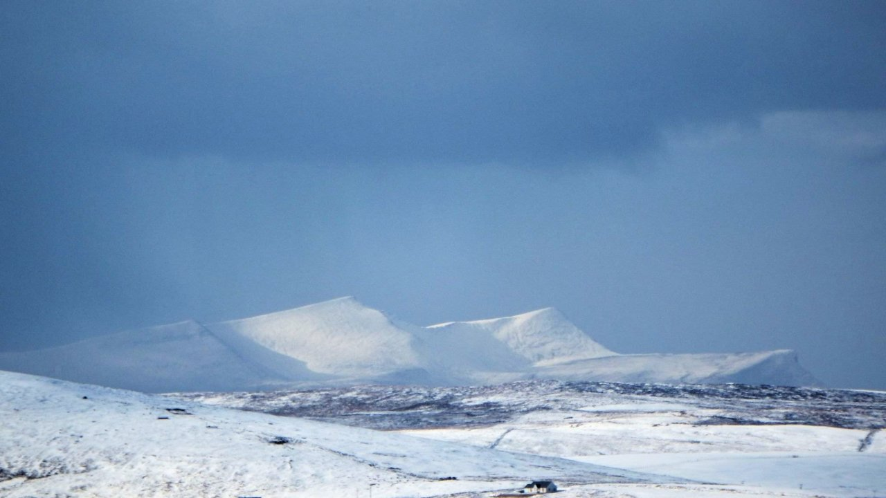 Foula seen from Wormadale