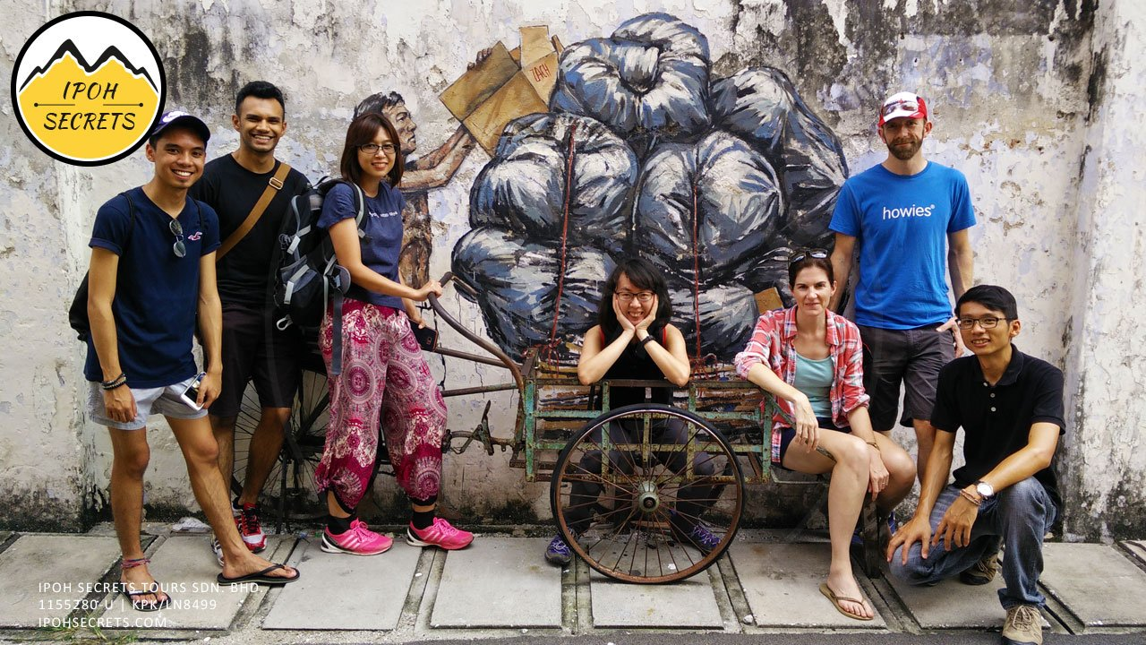 Old uncle with trishaw | Ipoh Secrets City Tour