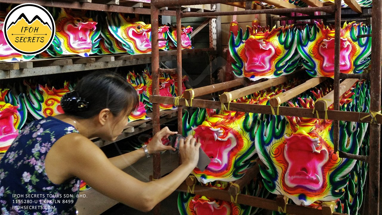 Part of the decoration for the dragon joss stick   Taiping Private Day Trip