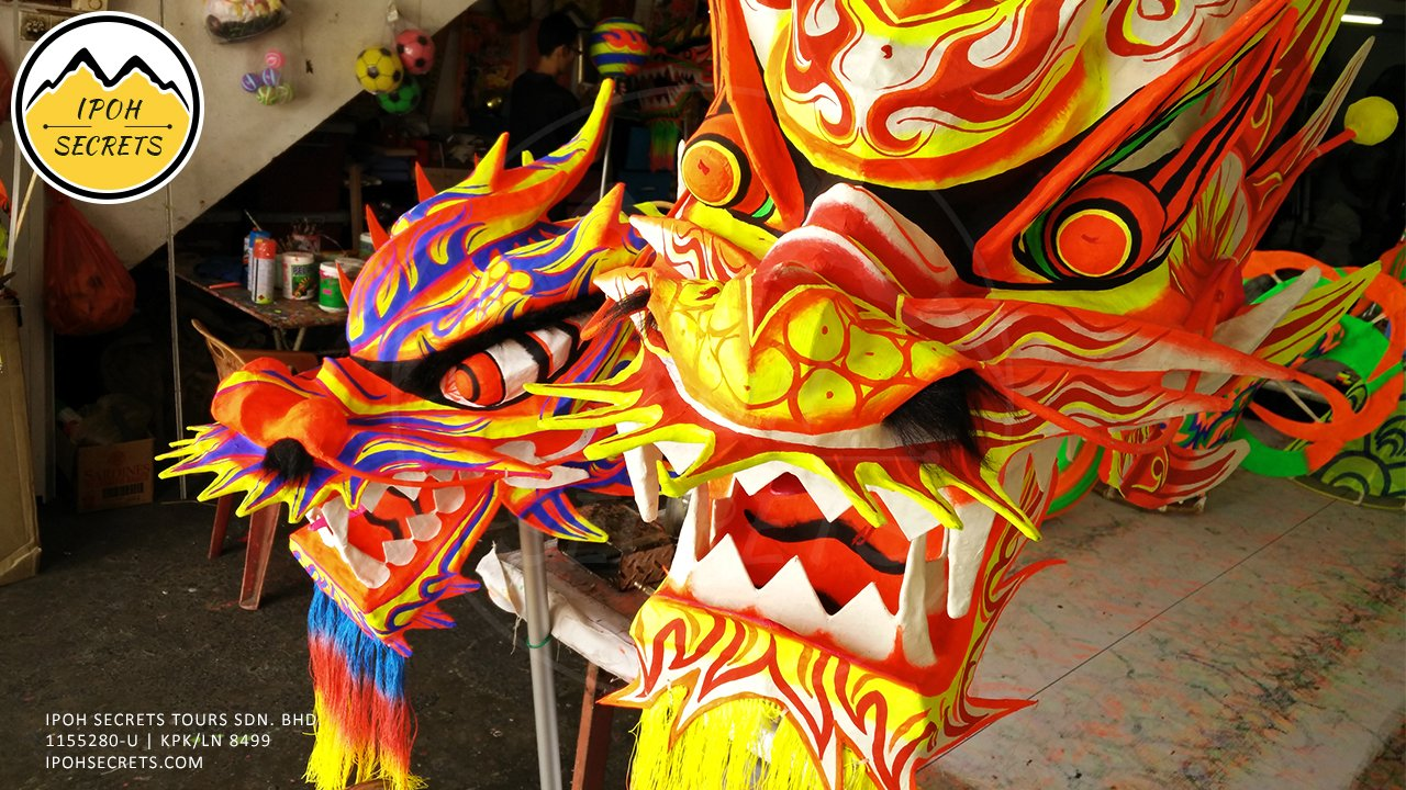 The making of Dragon Heads for ceremonial dance | Ipoh Secrets Private Day Trip