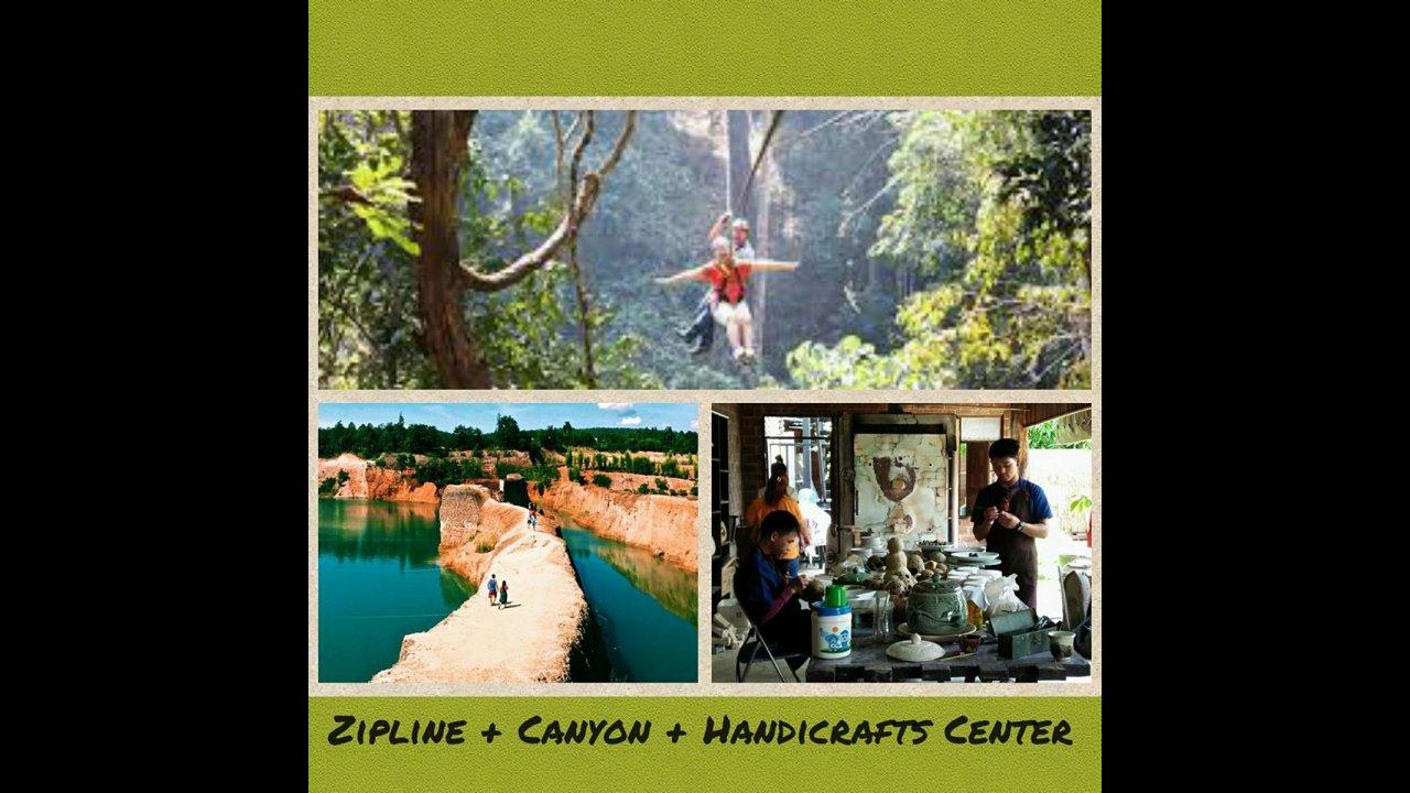 Chiang Mai Handy Tour 1 Day Zipline Handicraft Center Grand Canyon