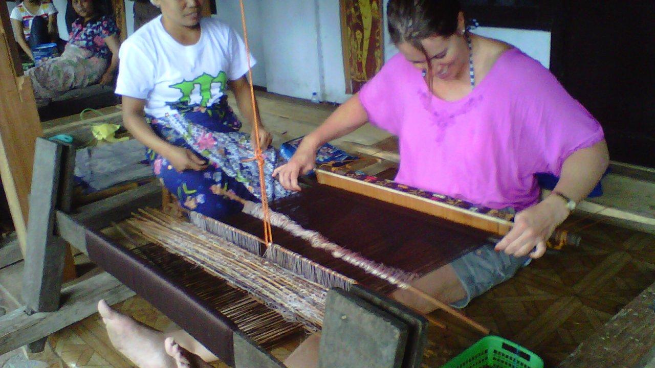 Hand Weaving Ikat