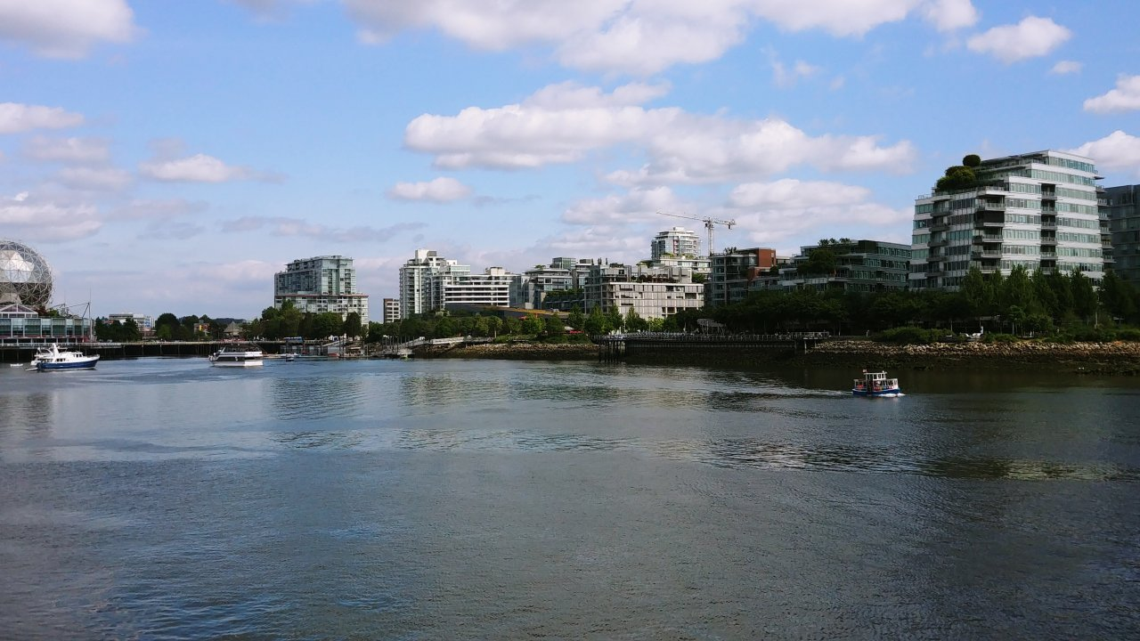 It doesn't matter how you get around False Creek, it's all beautiful