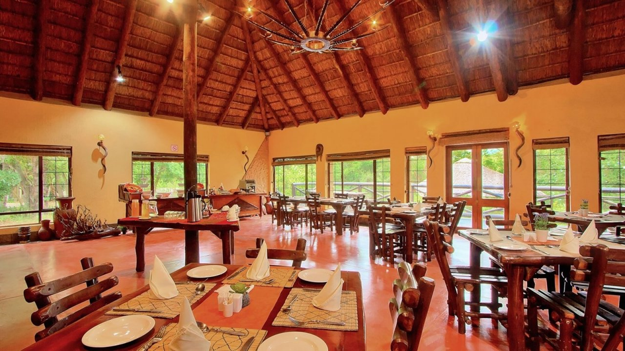 The restaurant area at the lodge