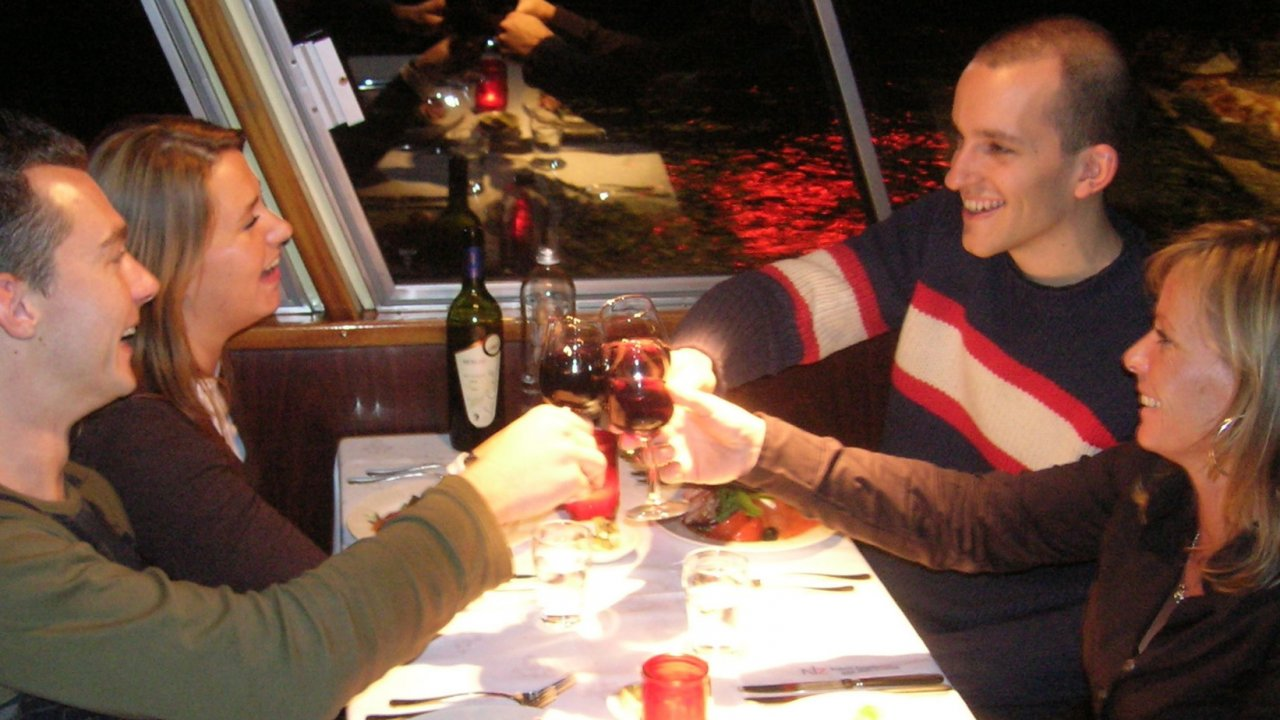 Couples dining on the Sea Fox