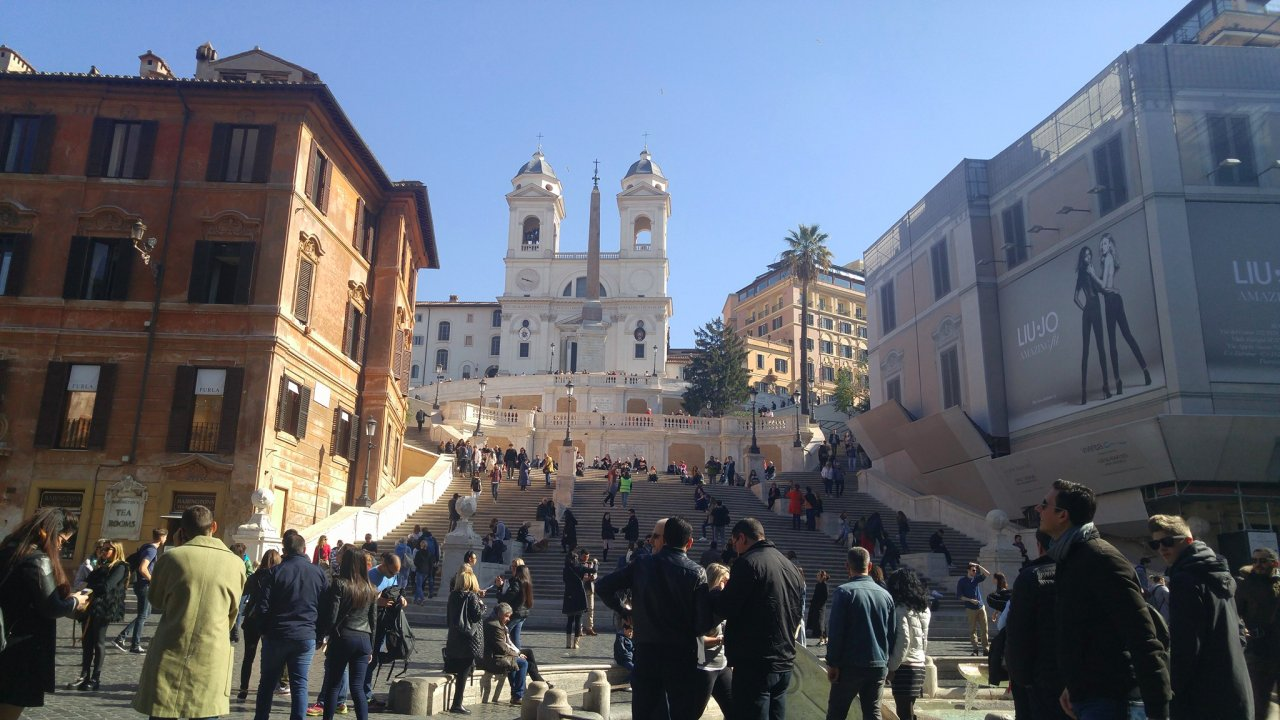 The world-famous Spanish Steps