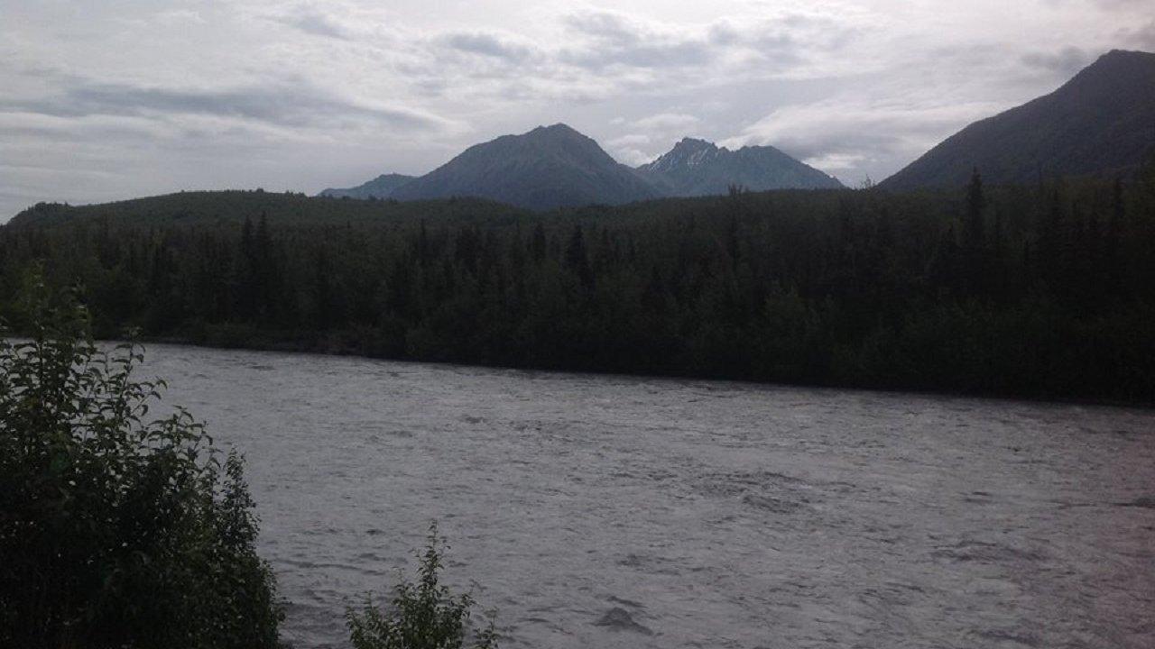 Chugach Mountains and Matanuska River