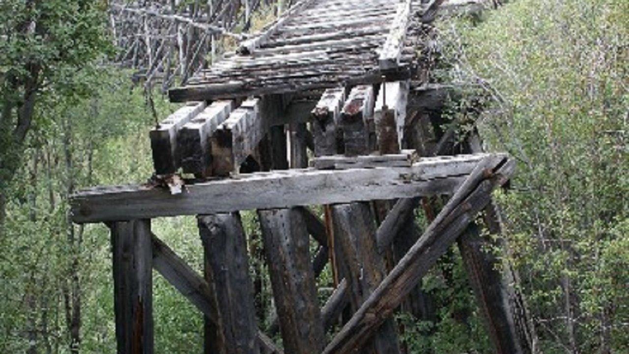 The historic Gilahina railroad trestle