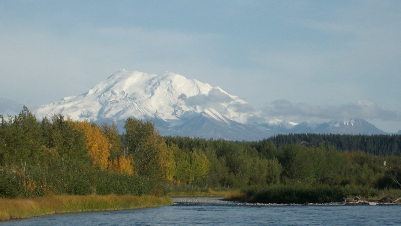 Wrangell Mountains and the Tonsina River