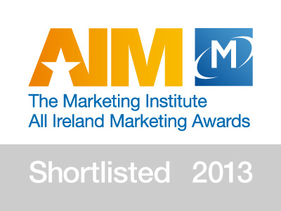 The Marketing Institute All Ireland Marketing Awards - Shortlisted 2013