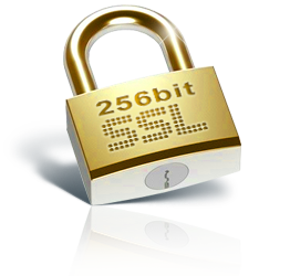 Secured Payments with SSL 256bit