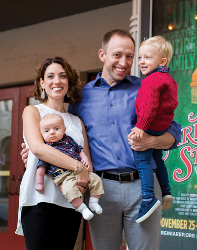 Nathaniel Shaw is Virginia Rep's new artistic director. He and his family, wife Lisa, and sons Benjamin and baby Caleb, recently moved to Richmond from New Jersey.