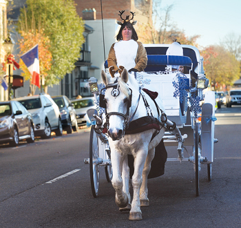 Enjoy a Jingle Bell ride through the streets of historic Fredericksburg.