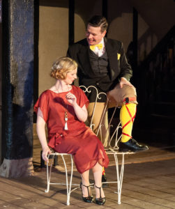 Liz Blake White as Olivia and Thomas Cunningham as Malvolio