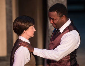 Laura Rocklyn as Viola and Jeremy Morris as Orsino